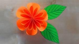 Einfache Papierblume Basteln : basteln mit papier blumen falten bastelideen diy geschenk selber machen basteln mit kindern ~ Eleganceandgraceweddings.com Haus und Dekorationen