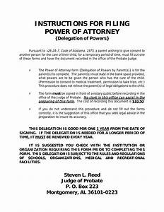 Poa For Child Download Alabama Power Of Attorney For A Minor Child Pdf