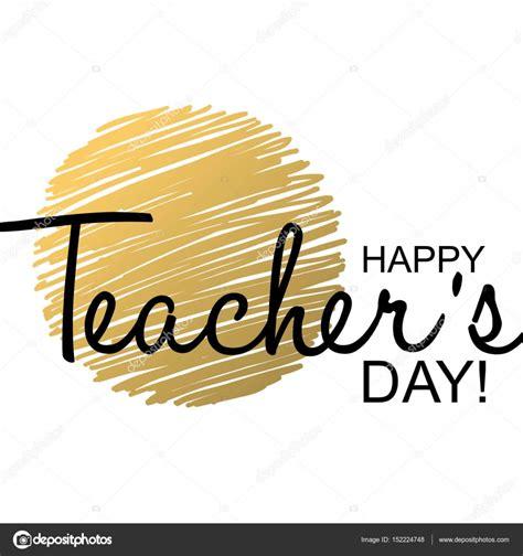 teachers day card template stock vector  galastudio