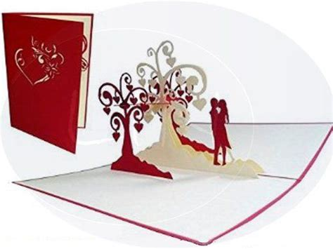 LIN Pop Up 3D Greeting Card for a Wedding Invitation or