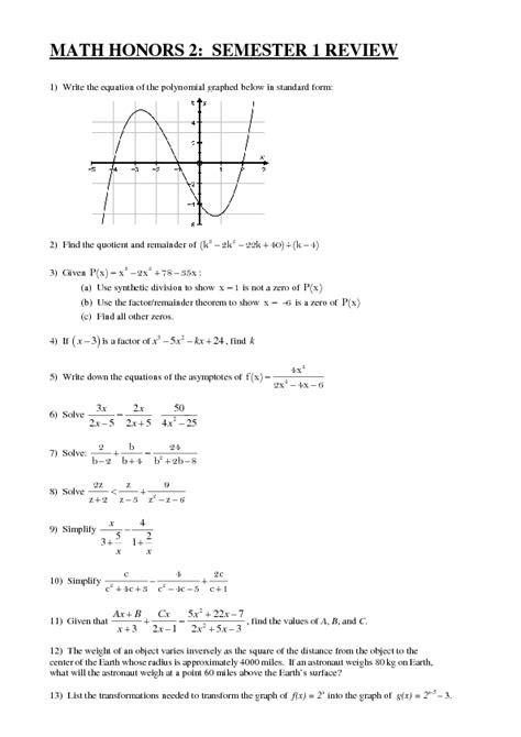 printables algebra 1 honors worksheets lemonlilyfestival