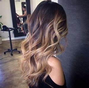Модное окрашивание балаяж на темные волосы (50 фото)
