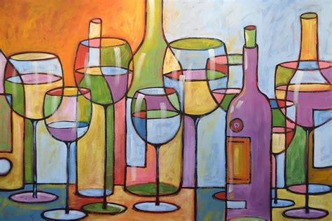 abstract wine dining room bar kitchen art time