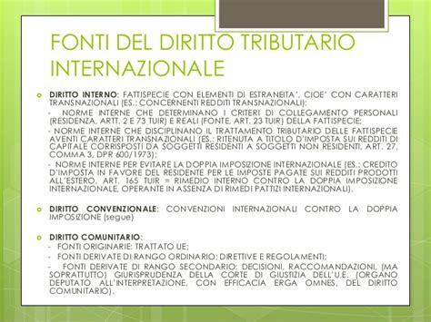 Attestato Di Residenza Fiscale Soggetti Diversi Dalle Persone Fisiche by Elementi Di Fiscalit 224 Internazionale