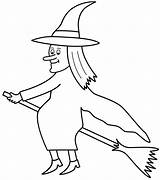 Coloring Broom Halloween Witch Witches Hexe Ausmalbilder Broomstick Flying Spider Template Zum Templates Drucken Cat Konabeun Flamingo Adults Fairy Popular sketch template