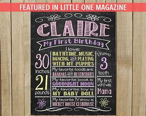 custom chalkboard birthday sign multiple sizes available With custom chalkboard printables