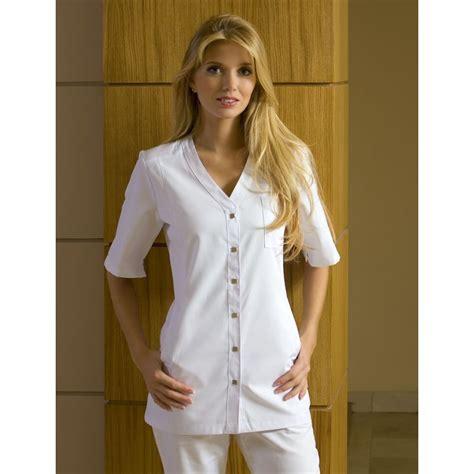 tunique blanche pour femme 3 poches peut bouillir 224 95 176 c