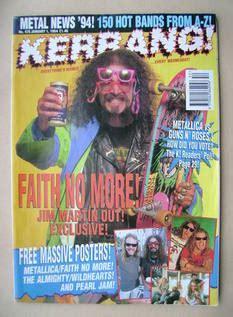 five minutes with martin edition magazine kerrang magazine jim martin cover 1 january 1994