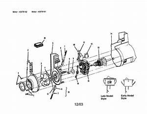 Motor Diagram  U0026 Parts List For Model U5057930 Hoover
