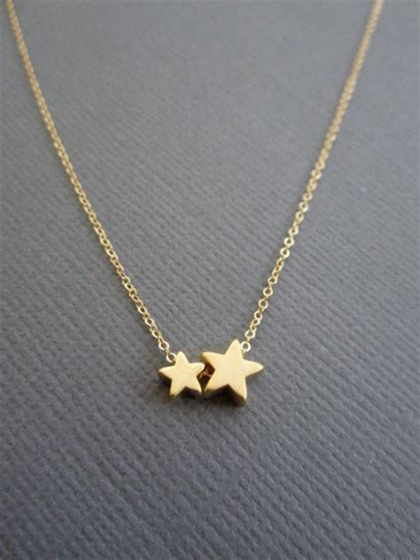 silver moon  star double layer necklace full moon