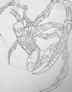 learn   draw iron spider  avengers infinity war