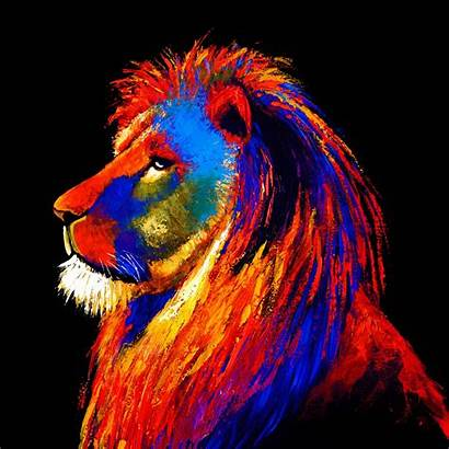 Lion Glass Majestic Painting Modern Contemporary Homesdirect365