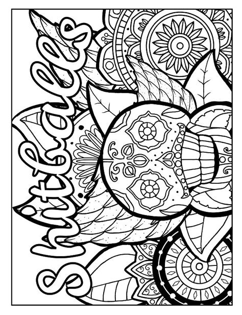 skull pack cussing coloring free adult coloring pages