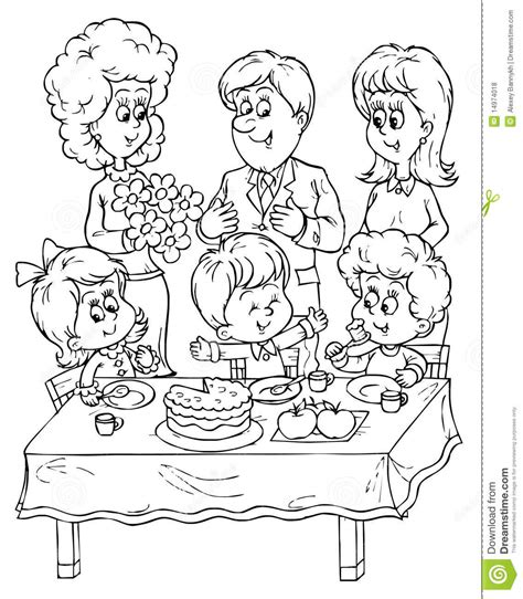 geburtstagsfeier stock abbildung illustration von mamma