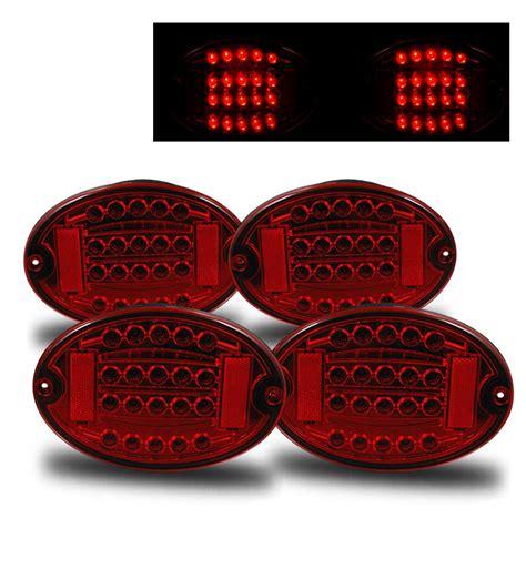 c5 corvette tail lights 97 04 chevy corvette c5 euro style led tail lights red