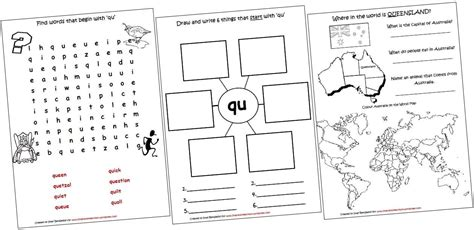 digraphs lapbook and worksheets qu