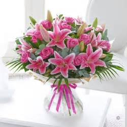 Happy Birthday Pink Flower Bouquet