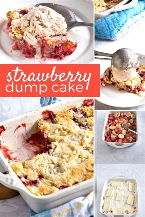 quick delish  strawberry dump cake  bananas