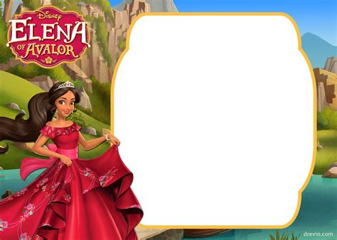 printable elena  avalor invitation