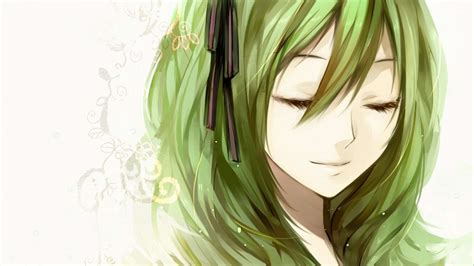 anime girl green hair anime wallpaper anime