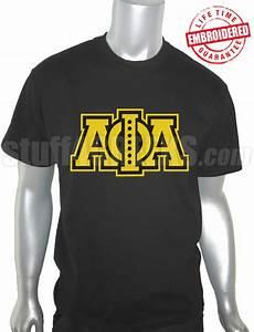 alpha phi alpha triple layered greek letter black t shirt With alpha phi letter shirts