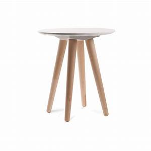 Table De Chevet Ronde : table basse scandinave bee zuiver ~ Teatrodelosmanantiales.com Idées de Décoration