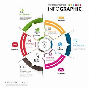 Corporate Infographic Circular Diagram Vector
