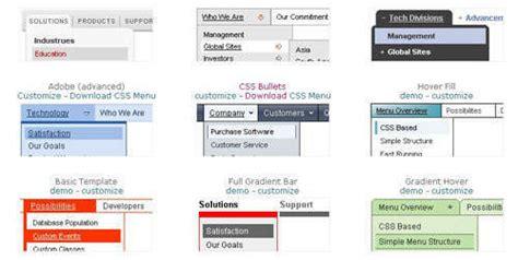 css menu layout code generators idevie