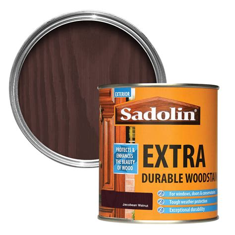 sadolin jacobean walnut woodstain  departments diy