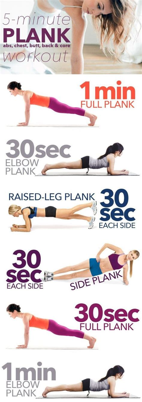 minute plank workout pictures   images