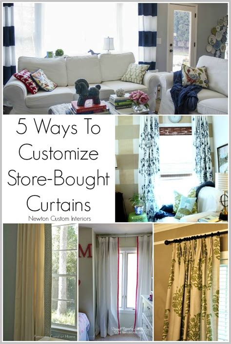 5 Ways To Customize Store Bought Curtains  Newton Custom Interiors