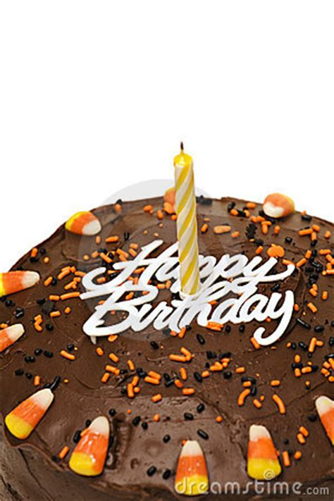 fall birthday cake royalty  stock  image