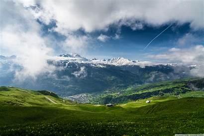 Mountain Spring Landscape 4k Wallpapers Background Desktop