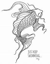 Koi Fish Coloring Sheets Pages Colouring Adult Drawings Grown Printable Drawing Printables Lostbumblebee Swimming Tattoo Ocean Mdbn Keep Books Donate sketch template