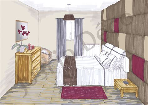 chambre en perspective dessin beautiful chambre en perspective frontale photos design