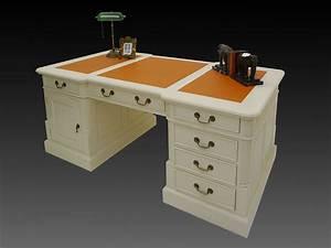 Schreibtisch Zwei Personen : schreibtisch partnerdesk b rom bel massivholz creme weiss lederauflage 3368 ebay ~ Markanthonyermac.com Haus und Dekorationen