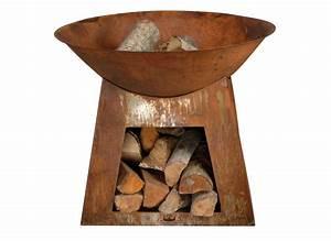 Cheminee D Exterieur : chemin e d 39 ext rieur vasque stockage bois jardideco ~ Teatrodelosmanantiales.com Idées de Décoration