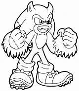 Coloring Sonic Hedgehog Sheets Printable Cartoon Template Wonder Bomb Minecraft Popular Templates Coloringhome sketch template