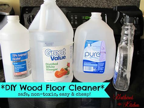 DIY Wood Floor Cleaner *safe, non toxic, easy and cheap