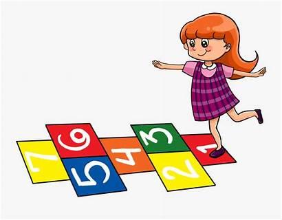 Hopscotch Playing Cartoon Play Transparent Clipart Preschool