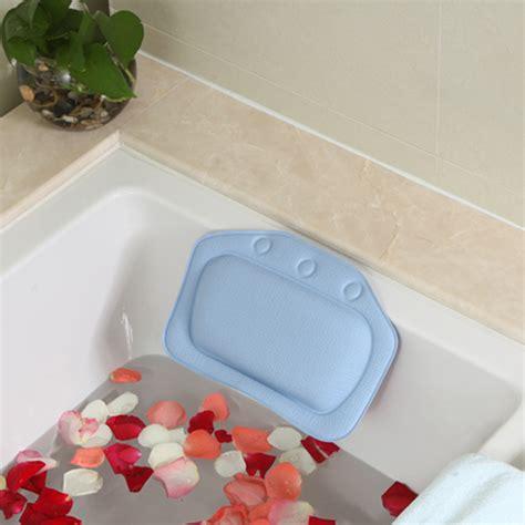 bathtub headrest pillow bath tub neck head rest pillow  sucker home bathroom ebay