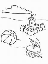 Coloring Summer Pages Colouring Fun Print Beach sketch template