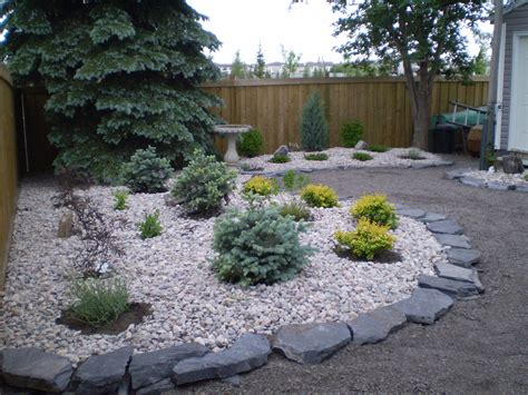 easy maintenance backyard low maintenance landscaping xeriscaping whitemud landscaping and garden center edmonton