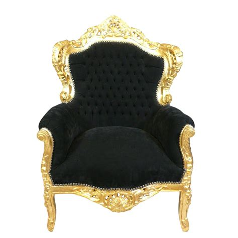chaise style baroque pas cher fauteuil baroque noir et doré chaise baroque