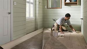 Install sheet vinyl flooring for How to install linoleum floor in bathroom