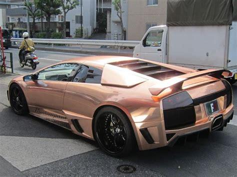 Champagne Chrome Lamborghini  Car Wrap #chrome