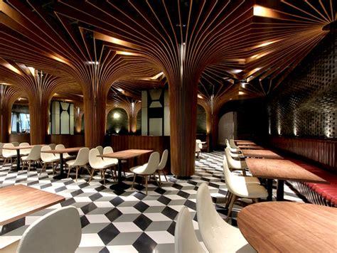 trendy restaurant bar  caa interiorzine