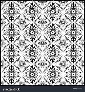Beautiful Black White Seamless Pattern Complex Stock ...