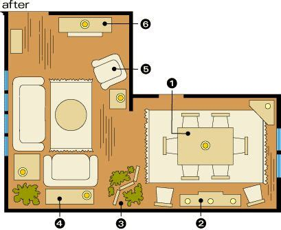 Shaped Living Room Furniture Arrangement