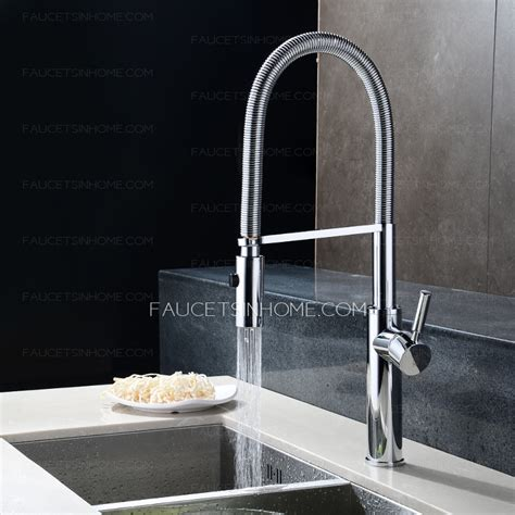 rotatable one handle chrome high end kitchen faucets